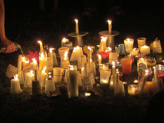 A candlelight vigil was held last night for victims of the mass shooting.