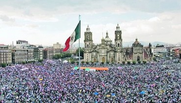#YoSoy132 and other social movements organized massive protests across Mexico this weekend.  (Photo: Latino Rebels)