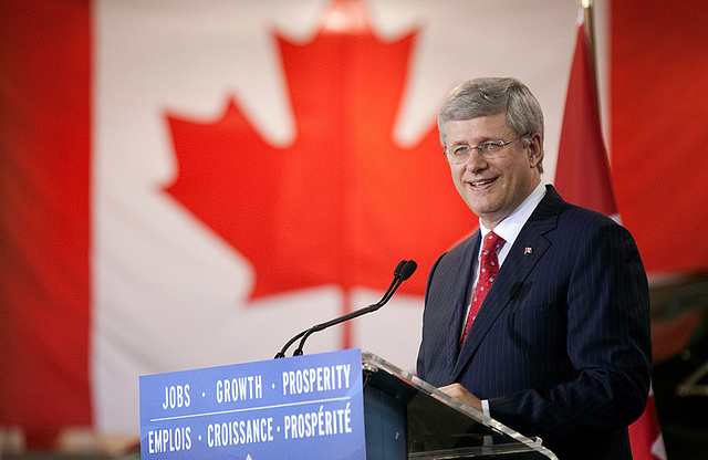 """Photo: flickr/""""Harper Government welcomes investment in Canadian research and de"""
