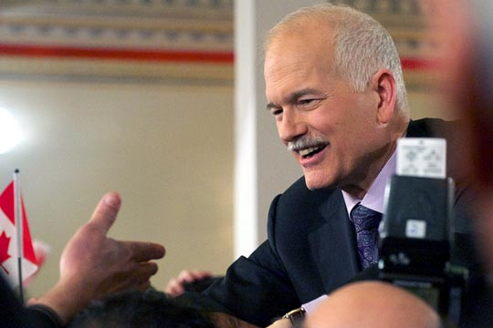 Jack Layton during the 2011 federal election campaign. Photo: Matt Jiggins/Flickr
