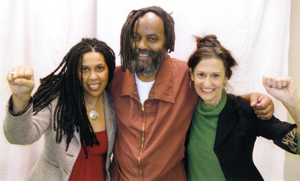 Johanna Fernandez, Mumia Abu-Jamal, Heidi Boghosian. Photo courtesy of Johanna Fernandez/freemumia.com