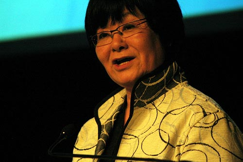 Federal Minister Bev Oda, who is at the centre of a mystery over who is responsible for gutting the aid to KAIROS through the 'doctoring' of a document. Photo: Megan Mallen.
