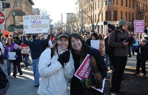 Wisconsin budget repair protest. Feb. 19, 2011. Photo: mrbula/Flickr