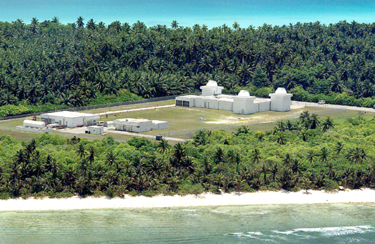 The Ground-Based Electro-Optical Deep Space Surveillance System (GEODSS) facility at Diego Garcia is one of three operational sites worldwide. Photo: United States Air Force photo/Senior Master Sgt. John Rohrer/Wikipedia.