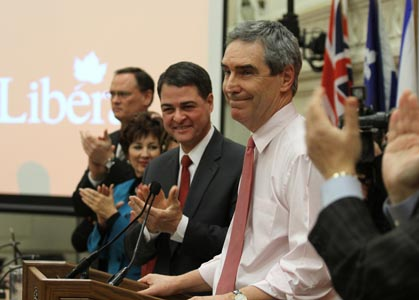 Michael Ignatieff receives the plaudits of his team at the Liberal Party Winter Caucus on Jan. 25, 2011. Photo: Michael Ignatieff/Flickr