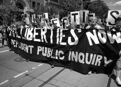 Thousands call for G20 public inquiry last week. There are more rallies this weekend. Photo: John Bonnar