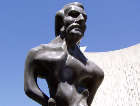 The monument to Louis Riel in Winnipeg, created by Marcien Lemay and Étienne Gaboury.