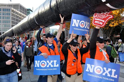 The protest against the Keystone XL pipeline project, Washington, DC, on Nov. 6, 2011. Photo: M.V. Jantzen/Flickr