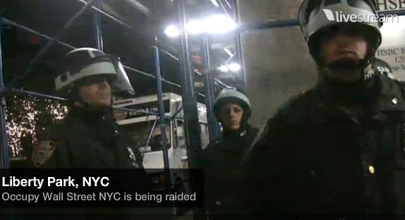 From the Occupy Wall Street Livestream.