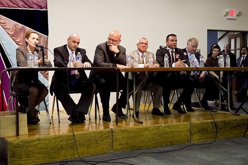 Toronto's mayoral candidates debate. Photo: SarahThomsonTO/Flikr