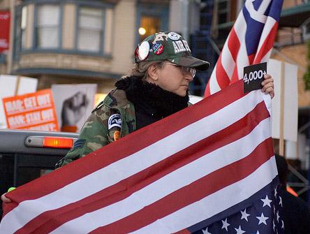 An Iraq War protest in San Fransisco in 2008. Photo: Alex Robinson/Flickr