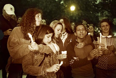 A candlelight vigil in Union Square, New York, September 2001. Photo: September Mourning/Flickr