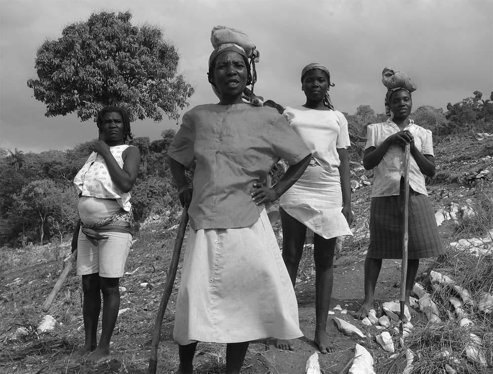 Haitian farmers, photo by Elizabeth Whelan, Partners In Health