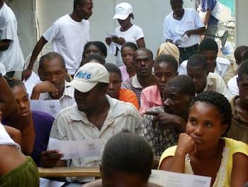 'Know your rights' human rights training in Haiti.