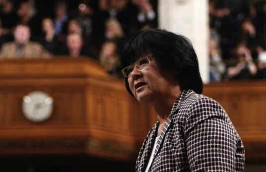 Bev Oda will no longer be representing Canada abroad. (Photo: http://trilbypolitics.wordpress.com/)