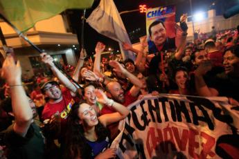 Chavez supporters celebrate. (Photo: Venezuelanalysis.com)