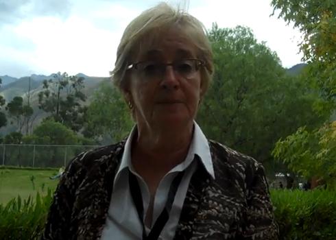 Maude Barlow in Cochabamba.