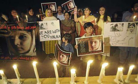 Vigil in Pakistan. (Photo: http://news.linktv.org/)
