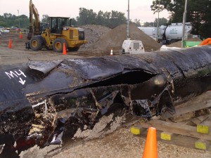 Photo: Enbridge Pipeline from Kalamazoo Spill by NTSB